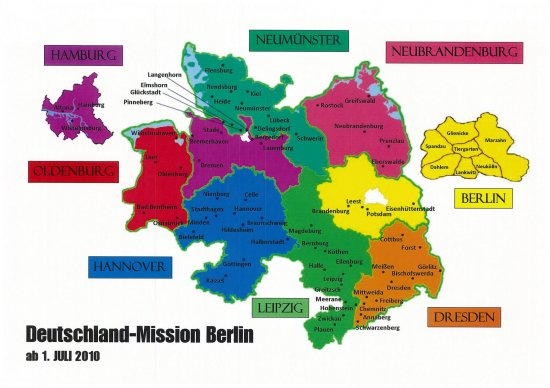 Berlin Germany mission map